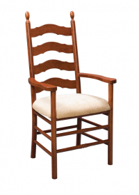 French-Country-Ladderback-Arm-Fabric-Seat
