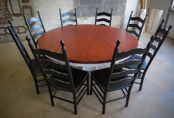 Red Cherry Round Pedestal Table