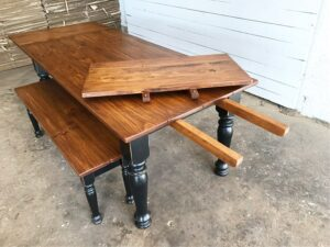 farmhouse table with extensions deconstructed