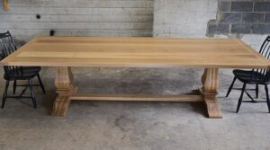 large white oak trestle table