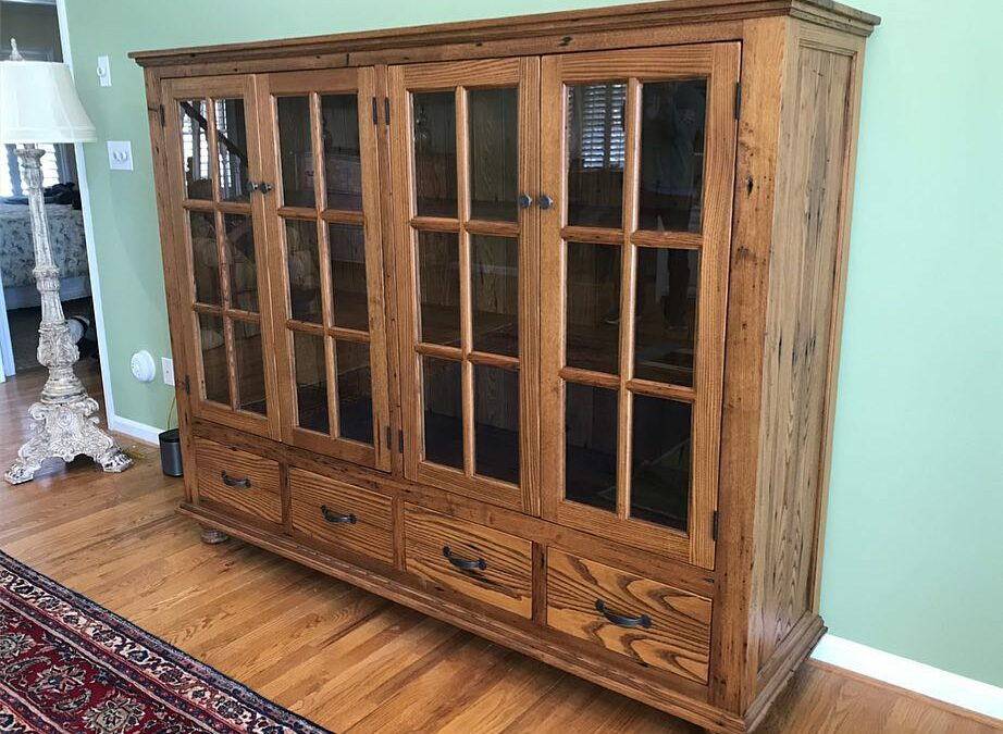 Reclaimed Chestnut China Cabinet