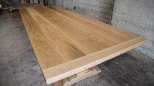 white oak trestle table top