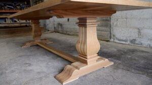 white oak tuscan trestle base
