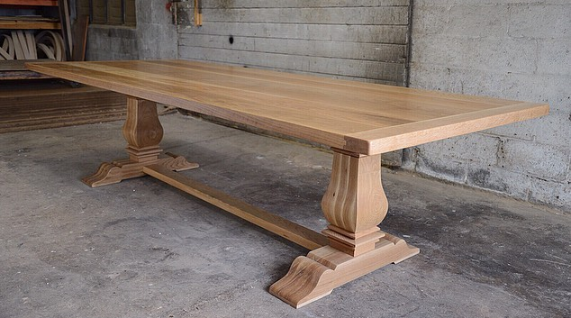 White Oak Tuscan Trestle Table