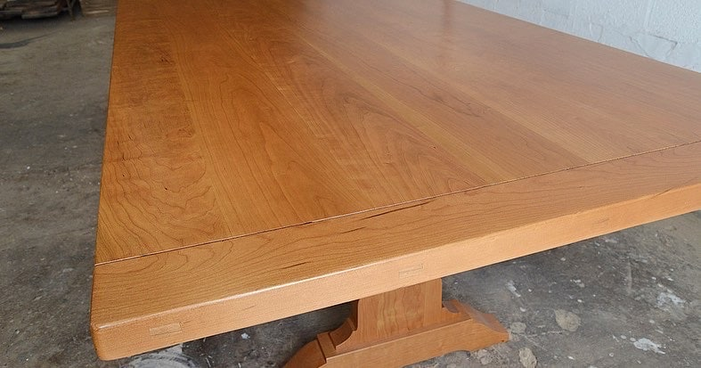 natural cherry top table